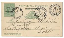 SAN MARINO - DA SAN MARINO A FORLI - 6.9.1922. - Interi Postali