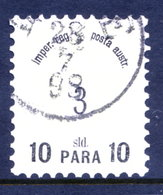 AUSTRIAN  POST IN LEVANT  1886 Surcharges 10 Para On 3 Soldi Used.  Michel 14 - Levant Autrichien