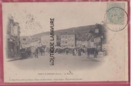 27 - PONT SAINT PIERRE---Le Marché---animé--precurseur - Francia