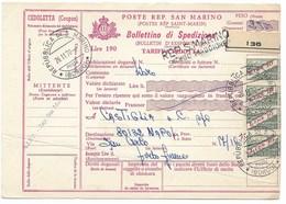 SAN MARINO - DA SAN MARINO A NAPOLI - 26.11.1970. - Interi Postali