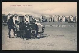AFSTEMPELING  BLANKENBERGE  1909 - LITTORAL BELGE   SUR LA PLAGE - Blankenberge