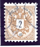 AUSTRIA PO In The LEVANT 1883 Arms 2 Soldi Used.  Michel 8 - Levant Autrichien