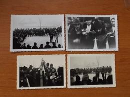 WW2 GUERRE 39 45 CIOCANESTI SUCEAVA BUCOVINE SOLDATS ALLEMANDS ASSISTANT A UN MARIAGE MUSICIENS ROMS TZIGANE - Roumanie