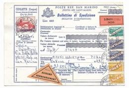 SAN MARINO - DA SAN MARINO A MISANO ADRIATICO - 9.10.1975 - CONTRASSEGNO. - Entiers Postaux