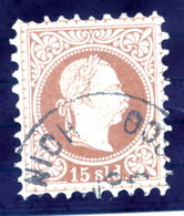 AUSTRIA POST IN LEVANT   1875 Franz Joseph Fine Print 15 Soldi Used.  Michel 5 II - Levant Autrichien