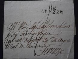 FRANCE MARQUE POSTALE LETTRE ENVELOPPE LSC CACHET TAMPON TAXE 112 AREZZO DEPARTEMENT CONQUIS OBLITERATION ITALIE ITALIA - 1792-1815: Conquered Departments