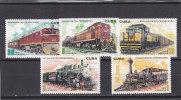 Cuba Nº 1880 Al 1884 Con Manchas En La Goma - Nuevos