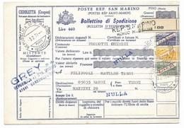SAN MARINO - DA SAN MARINO A NARNI - 3.2.1971 - RESTITUITO AL MITTENTE. - Entiers Postaux