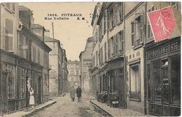 D92 - PUTEAUX - RUE VOLTAIRE - Restaurant Godefroy-Boucherie Julien-Boulangerie Maison Guyon-Plusieurs Personnes - Puteaux