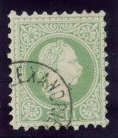 AUSTRIA POST IN LEVANT   1875 Franz Joseph Fine Print 3 Soldi Used.  Michel 2 II - Levant Autrichien