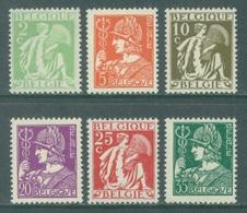 BELGIQUE - 1932 - MNH/*** LUXE - MERCURE CERES MERCURIUS  - COB 335-340 - Lot 19951 - 1932 Ceres And Mercurius