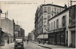D92 - PUTEAUX - RUE DES BAS ROGERS - Cagettes De Bouteilles-Restaurant/Bar-Epicerie-Véhicules Anciens-Vélo - Puteaux