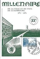 13.4.1963  -  MILLENAIRE  DE LA VILLE ET DU PAYS DE LUXEMBOURG  963 1963 - Cartoline Maximum
