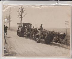 BRITISH WESTERN FRONT IN FRANCE GERMAN OFFENSIVE BIG GUNS GOING FORWARD    +-20*15CM - Guerra, Militares