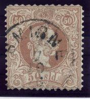AUSTRIAN  POST IN LEVANT  1867 Franz Josef I Coarse Printing 50 Soldi Perforated 10½:12 Used.  Michel 7 I F - Levant Autrichien