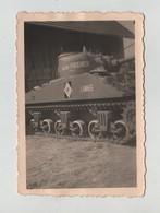 Photo Originale  Char Tank Lannes Friderich DB 1945 à Identifier - Guerre, Militaire