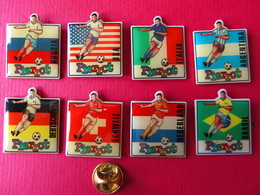 8 Pin's,WORLD CUP USA 94,PIERROT,glace,foot,soccer,Fussball,sponsor - Football