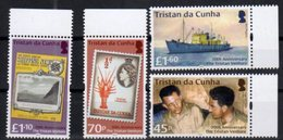 TRISTAN DA CUNHA , 2018, MNH, 70th ANNIVERSARY OF THE TRISTAN VENTURE, SHIPS, STAMP ON STAMP, CRAYFISH, CRUSTACEANS,4v - Barche