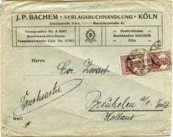 (Lo3418) Brief DR St. Köln N. Breuckelen Holland Mit Perfin - Allemagne