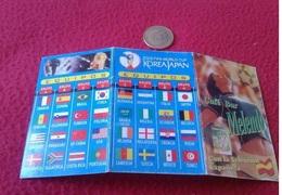 SPAIN CALENDARIO MUNDIAL DE FÚTBOL COREA SOUTH KOREA JAPÓN JAPAN 2002 WORLD CUP FOOTBALL SOCCER PARTIDOS MATCHS CALENDAR - Calendarios