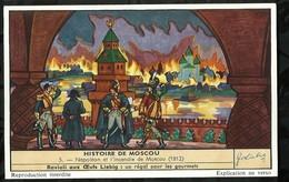CHROMO LIEBIG . HISTOIRE  DE MOSCOU . NAPOLEON ET L'INCENDIE DE MOSCOU . - Liebig