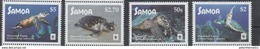 SAMOA, 2016,  MNH, WWF, TURTLES,  4v( STAMPS WITH WHITE BORDER) - Other
