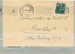 HAMBURG - 1948 , Ortsbrief  -  2x Verwendet - Zone Anglo-Américaine