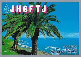 JP.- QSL KAART. CARD. JAPAN. MIYAZAKI. JH6FTJ. HIDEAKI JODO. - JOE -. JARL. HUNTERS GROUP. - Radio Amatoriale