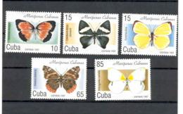 Cuba 1997 Butterflies MNH Scott 3827-3831. Value $3.35 - Mariposas