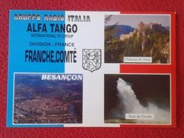 POSTAL POST CARD QSL RADIOAFICIONADOS RADIO AMATEUR GRUPPO ALFA TANGO ITALIA FRANCE FRANCHE COMTÉ BESANÇON CHATEAU...... - Tarjetas QSL