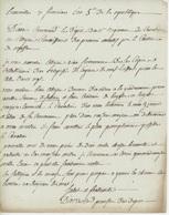 Lunéville An 5 - 27.11.1797 Dépôt Du Régiment De Cavalerie Signature Dacre ???? - Documents Historiques