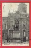 LE CATEAU APRES LA LIBERATION 1920 STATUE MARECHAL MORTIER CARTE EN BON ETAT - Le Cateau