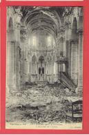 LE CATEAU APRES LA LIBERATION 1918 INTERIEUR DE L EGLISE CARTE EN BON ETAT - Le Cateau