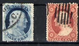 Estados Unidos  Nº 9/10. Año 1857/60 - Usados