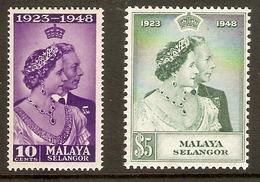 MALAYA - SELANGOR 1948 SILVER WEDDING SET  UNMOUNTED MINT Cat £27+ - Selangor