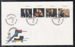 ES 99 ) Free Shipping To // Dänemark Denmark 1997 FDC  -  25 Jahre Queen Margarethe II. - FDC