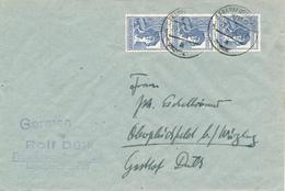FRANKFURT / M - 22.6.48 , Währungsreform , 10fach Frankatur ,  Nach Oberpleichfeld / Würzburg - Zone Anglo-Américaine