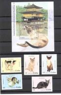 Cuba 1997 Cats. Hong Kong'97 International Philatelic Exhibition. Scott 3800-3805 Value $6.35 - Gatos Domésticos