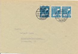 HALLE /  Westfalen - 22.6.48 , Währungsreform , 10fach Frankatur  R-Mark Und D-Mark - Mischfrankatur - Zone Anglo-Américaine