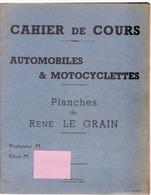 """Cahier De Cours """"automobiles Et Motocyclettes"""" - Machines"""