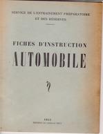 Fiches 'd'instruction Automobile 1952 - Machines