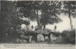 D35 - LA ROCHE AUX FEES - SUPERBE DOLMEN COMPOSE DE 43 ENORMES PIERRES FORMANT CAVERNE-ENVIRONS DE RETIERS-Hommes/dolmen - Autres Communes