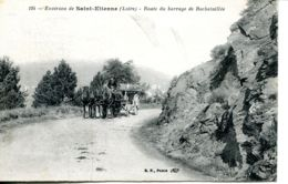 N°74432 -cpa Route Du Barrage De Rochetaillée- Attelage- - Rochetaillee