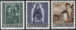 Liechtenstein 1958: Kapelle St.Peter Hl. Moritz & Agatha Zu 318-320 Mi 374-6 Yv 336-338 ** MNH (Zumstein CHF 12.00) - Weihnachten