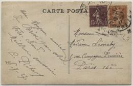 DAGUIN Temporaire Brive 1927 - Double Frappe - Annullamenti Meccaniche (Varie)
