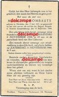 Oorlog Guerre Frans Rombauts Mechelen SOLDAAT Brigade Piron Liberation Gesneuveld Leopoldsburg September1944 - Devotieprenten