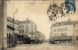 Cp Créteil Val De Marne, La Grande Rue, Des Magasins - France