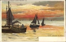 Artiste Cp Ranot, F., Knokke Heist Westflandern, Bâteaux De Pêche, Fischerboote - Andere