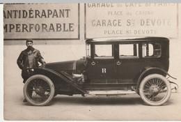 Cp .automobile Garage Du Café De Paris Place Du Casino Et Garage Ste Devote......... - Passenger Cars