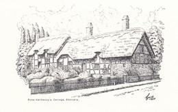 Postcard Anne Hathaway's Cottage Shottery [ Stratford Upon Avon ] Art / Sketch Card My Ref  B13459 - Stratford Upon Avon